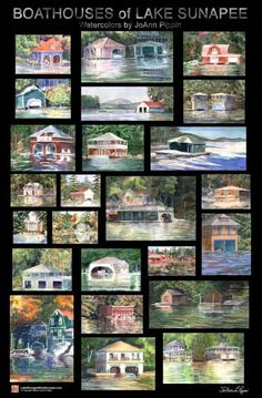 Lake Sunapee Boathouse Poster
