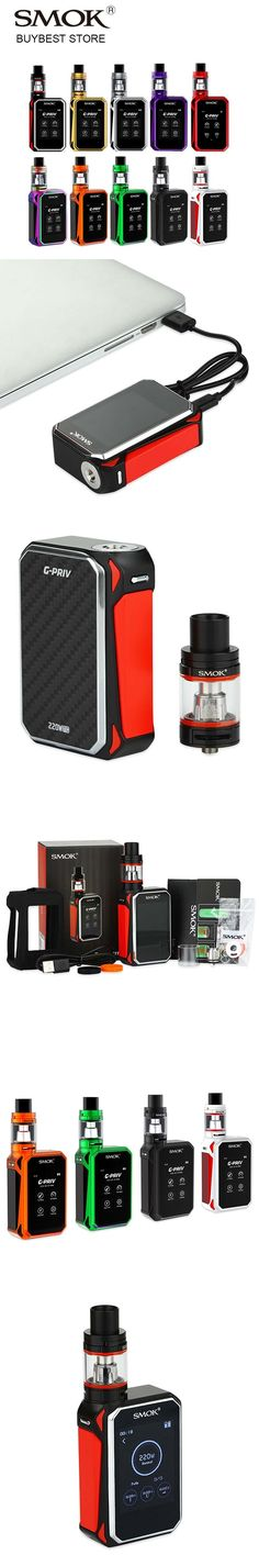 Original SMOK G-Priv Touch Screen 200W Kit with Gpriv Box Mod 220W & TFV8 Big Baby Tank 5ml Atomizer Vape Kit VS Smok Alien 200W