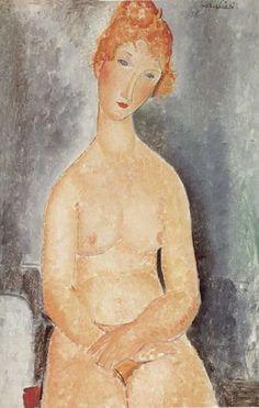Seated Nude 1918 Amedeo Modigliani
