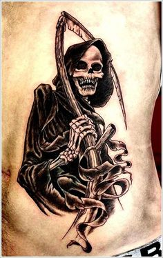 Our Website is the greatest collection of tattoos designs and artists. Find Inspirations for your next Skull Tattoo. Search for more Tattoos. Biker Tattoos, Military Tattoos, Badass Tattoos, Tatuaje Grim Reaper, Grim Reaper Tattoo, Skull Sleeve Tattoos, Body Art Tattoos, Death Tattoo, Tattoo Designs