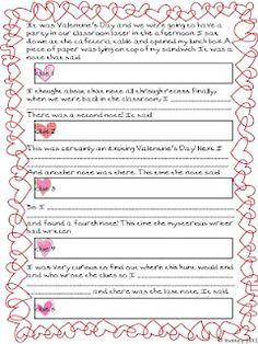 valentine's day creative writing