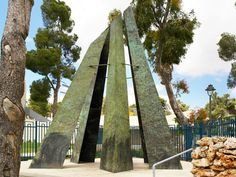 Jerusalem, Israel - Sculpture, Ammunition Hill Memorial and Museum (גבעת התחמושת‎, Giv'at HaTahmoshet)