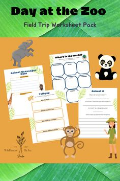 Includes 7 Worksheets that can be printed over and over for different Field Trips to the Zoo. Some pages are designed to bring on the trip and the rest can be completed after at home or school for an engaging study on the trip. Instant download only $5.00 on Etsy Kids Activities At Home, Printable Activities For Kids, Travel Activities, Classroom Activities, Elementary Classroom Themes, Elementary Education, Field Trips, Student Engagement, Creative Teaching