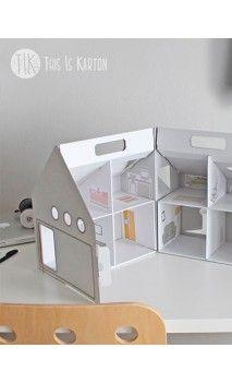 Colección de juguetes y casas de cartón para niños - Les Petits Chéris.  #juguetes #carton #toys #ecologico #reciclable