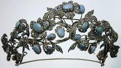 Sapphire and diamond tiara