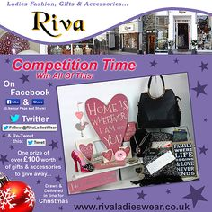 Riva Ladieswear Competition Facebook / Twitter Competition Time, Facebook Likes, Promote Your Business, Business Marketing, Wales, Designers, Social Media, Website, Twitter