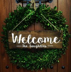 Welcome Sign Welcome Door Sign Personalized by TheWoodGrainHome