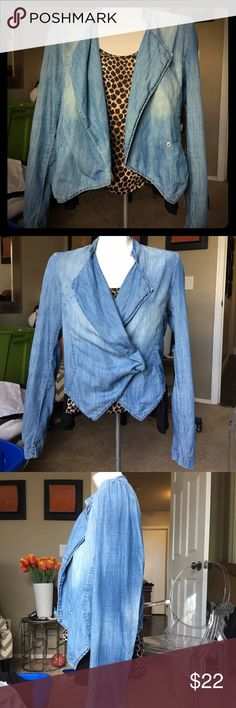 Denim blazer/jacket. Light weight denim jacket. You can dress it up and wear it to the office or dress it down and wear with your favorite pair of jeans and sneakers. Size Medium. 55% cotton, 45% Lyocell. Silver hardware. Forever 21 Jackets & Coats Blazers