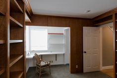 Den with built-in desk