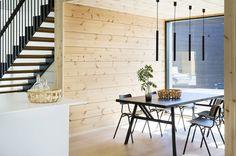 Kohde 19: Honka Markki Scandinavian Interior, Log Homes, Kitchen Dining, Stairs, Cottage, Exterior, Traditional, Contemporary, Interior Design