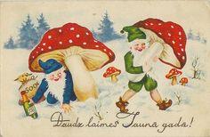 Mushroom Gnomes by eggchairsteve, via Flickr