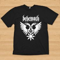 "Cool Design. This is a new BEHEMOTH T shirt. The design is from the LIVE APOSTACY album sleeve A nice collection for metal fan. The band logo is silk screened in front in white  to black t shirt and Comes in sizes S, M, L, XL and XXL.  SIZE       BODY LENGTH     BODY WIDTH Small        28""   ..."