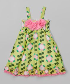 Loving this Lime Floral Dress - Infant & Toddler on #zulily! #zulilyfinds