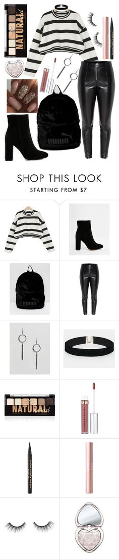 """OOTD 12.26.17"" by angelsaffairs ❤ liked on Polyvore featuring Public Desire, Puma, Ashiana, ASOS, NYX, Too Faced Cosmetics and tarte"