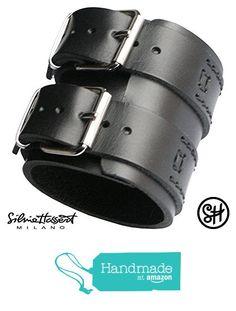 Handgelenkbandage Herren Leder Armband schwarz von der Silvia Hassert bracciali cuoio https://www.amazon.de/dp/B07213RYL3/ref=hnd_sw_r_pi_dp_7oZzzbS73FKYQ #handmadeatamazon