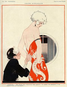 La Vie Parisienne, 1924 Art by Rene Vincent