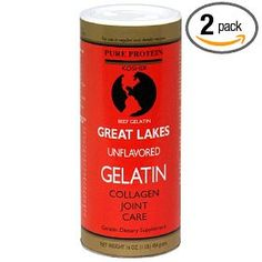 Great Lakes makes the best gelatin - from grass-fed beef! We use it in our raw milk cheesecake or homemade fruit jello or add it to soups to improve digestibility and nutrient assimilation.