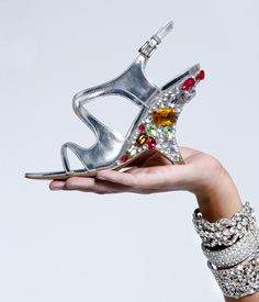 Taylor Jewel Encrusted Wedge Shoes. Give them to me now!!!!