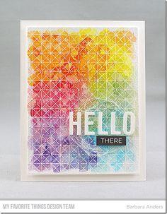 Framework Background, Label Maker Love Stamp Set, Happy Greetings Die-namics - Barbara Anders #mftstamps