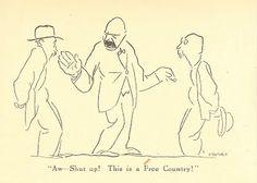 A Man of Family: Liberator Magazine Art, Dec 1918, page 9, political cartoon, artist: GROPPER