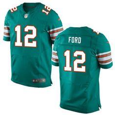 49f2705ef Men's 2017 NFL Draft Miami Dolphins #12 Isaiah Ford Aqua Green Alternate  Stitched NFL Nike