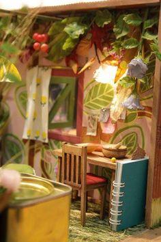 The Borrowers/Arrietty's bedroom: miyazaki_fanart: Миниатюры Studio Ghibli Art, Environment Concept Art, Flower Fairies, Anime Shows, Room Themes, Stop Motion, The Borrowers, Decoration, Fantasy Art