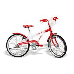 Olha só que máximo essa bicicleta da Hello Kitty da Caloi com lancheira frontal para você levar o quiser, de um lado para o outro!