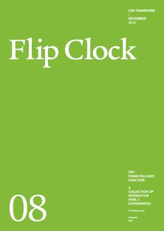 Form Follows Function - Flip Clock  funnest website EVER! (and awesome time waster at work)