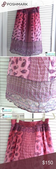 Gypsy 05 Bubble Gum Mid Length Skirt Gypsy 05 Bubble Gum Mid Length Skirt. 100% silk. New with tags. Bohemian chic style. Gypsy 05 Skirts
