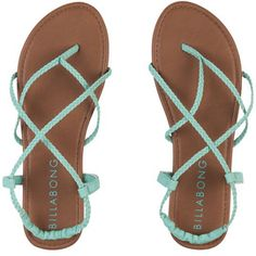 Billabong Women's Crossing Over from Billabong. Shop more products from Billabong on Wanelo. Socks And Sandals, Cute Sandals, Shoes Sandals, Teva Sandles, Mint Sandals, Strappy Sandals, Leather Sandals, Crazy Shoes, Me Too Shoes
