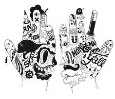 A freelance illustrator, artist, designer & creative director working under the name Uberkraaft for his various illustration &. Illustration Design Graphique, Graphic Illustration, Le Dab, Tattoo Cover, Illustrator Tutorials, Freelance Illustrator, Illustrations, Art Plastique, Doodle Art
