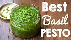 Learn how to make basil pesto sauce perfectly every time. The easiest pesto sauce recipe that takes less than 2 minutes to make! Easy Pesto Sauce Recipe, Creamy Pesto Sauce, Basil Pesto Sauce, Sauce Recipes, Healthy Sauces, Vegan Sauces, Basil Pesto Vegan, Vegetarian Recipes, Healthy Recipes