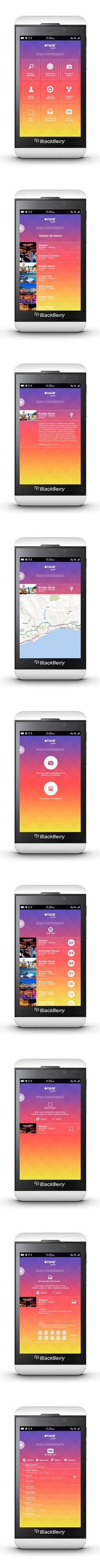 Blackberry Z10 - disco app conception, via spaincreative