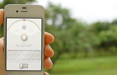 WTHR. Weather app.