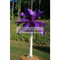 Wholesale Purple Ostrich Feather Centerpieces 6 Sets BULK DISCOUNT Cheap discount