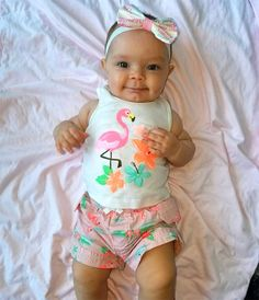 "Flamingo Cutie from Ice-T & Coco's Cutest Pictures of Baby Chanel  ""Don't hate on my pink flamingo outfit!"" her mom wrote."