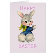 Retrovintage easter bunny card retro gifts style cyo diy retrovintage easter bunny card negle Choice Image