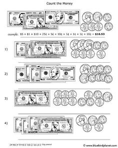 grade 2 counting money worksheet on counting the 4 coins plus 1 and 5 bills auditory. Black Bedroom Furniture Sets. Home Design Ideas