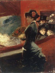 La Loge (1891)  Jean Louis Forain