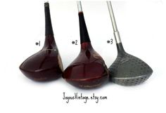 Vintage Wood Golf Clubs Man Cave Decor Father's by JoyousVintage $45.00.