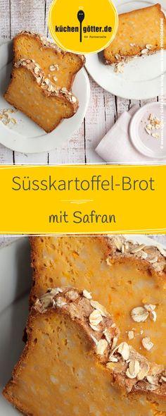Raffiniertes Rezept für leckeres Süsskartoffel-Brot mit Safran. French Toast, Breakfast, Food, Sweet Potato Bread, Kuchen, Breads, Saffron Recipes, Potatoes, Morning Coffee