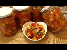 Leczo z Cukinią na Zimę do Słoików Finger Foods, Salsa, Mexican, Jar, Vegetables, Cooking, Ethnic Recipes, Youtube, Tomatoes
