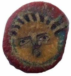 Ancient mosaic face bead, Roman, from Ancient Beads World