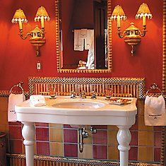 Etonnant Kitchen And Bath . Mackenzie Childs.com | StriPes | Pinterest | Powder  Room, Sinks And Tiny Bathrooms