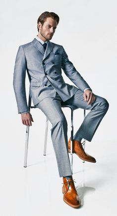 I love a slim suit this is a classic look.