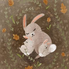 When in doubt of what to draw, draw what you draw best! In my case this is cute animals snuggled up ❤️❤️ #digitalart #illustration #characterdesign #kidlit #kidlitart #childrensbook #childrensliterature #landscape #doodleoftheday #doodle #sketch #photoshop #bunny