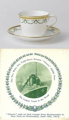 Royal Crown Derby, Fine Bone China, Made in England, 'Titanic',Tea Cup and Saucer. JH