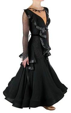 Black ballroom dance dress