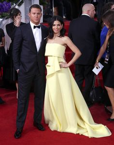Channing Tatum and gf at the Golden Globes