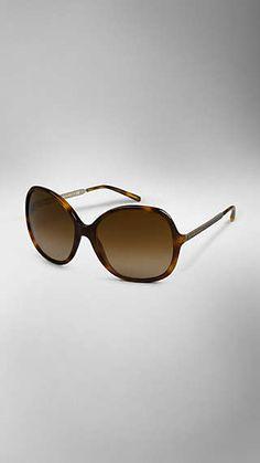 ff581f072310 Round Frame Acetate Sunglasses Burberry Sunglasses